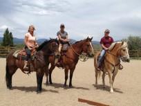 Lesa, Danielle, and Hillary ride CR Summit